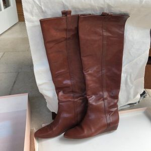Loeffler Randall Over the Knee Boots leather